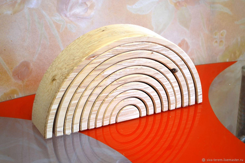 """Развивающие игрушки ручной работы. Ярмарка Мастеров - ручная работа. Купить Пирамидка """"радуга"""". Handmade. Радуга, пирамидка из дерева, впск"""