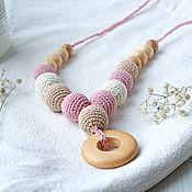 Одежда handmade. Livemaster - original item Slingobusy made of juniper with a beige powdery. Handmade.