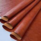 Материалы для творчества handmade. Livemaster - original item Leather: Sparta Red 1,1-1,3 mm.. Handmade.