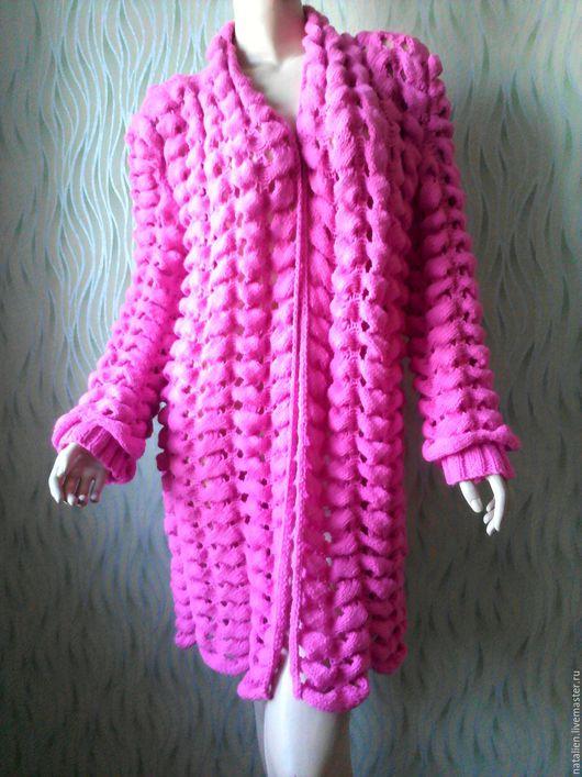 """Кофты и свитера ручной работы. Ярмарка Мастеров - ручная работа. Купить Кардиган """"Шиншилла """". Handmade. Тёмно-фиолетовый, пряжа"""