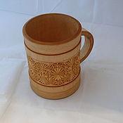 Посуда ручной работы. Ярмарка Мастеров - ручная работа Кружка пивная деревянная. Handmade.