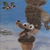 """Картины и панно ручной работы. Ярмарка Мастеров - ручная работа Картина из шерсти """"Ледниковый период"""". Handmade."""