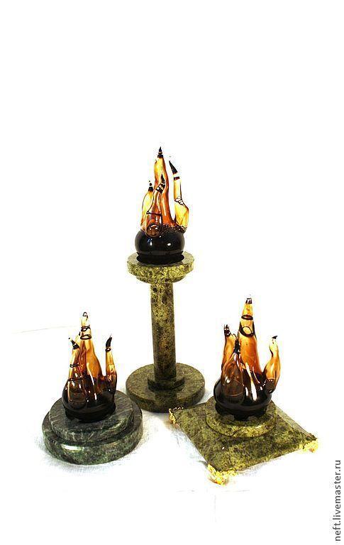 Персональные подарки ручной работы. Ярмарка Мастеров - ручная работа. Купить Пламя недр. Handmade. Черный, пламя, камень