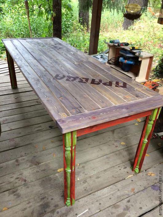 стол из дерева, Дизайнерская работа, стиль ЛОФТ. можно написать другие слова))
