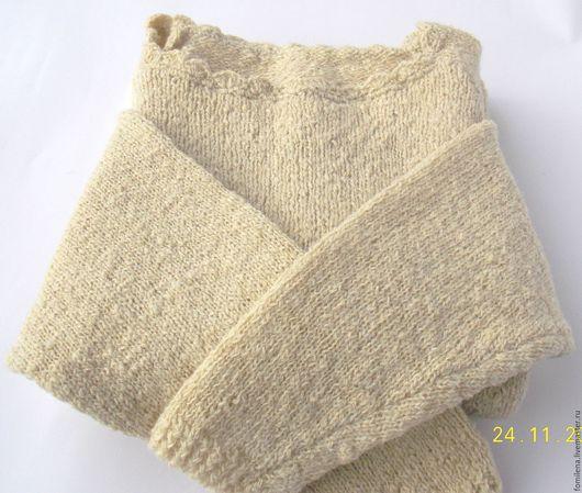Кофты и свитера ручной работы. Ярмарка Мастеров - ручная работа. Купить Свитер из натуральной шерсти ручного прядения.. Handmade. Белый