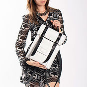 Сумки и аксессуары handmade. Livemaster - original item Women`s backpack made of nat. skin White. Handmade.