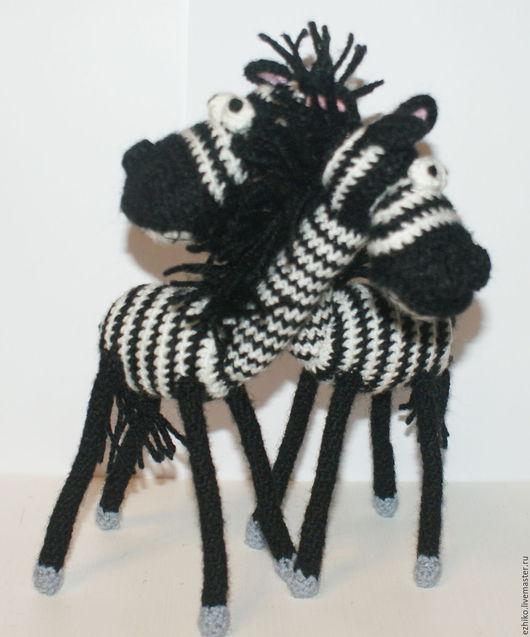 Игрушки животные, ручной работы. Ярмарка Мастеров - ручная работа. Купить Позитивные зебры. Handmade. Чёрно-белый, копытные
