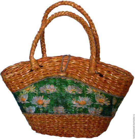 Женские сумки ручной работы. Ярмарка Мастеров - ручная работа. Купить плетеная сумка. Handmade. Плетеные изделия, газетная лоза