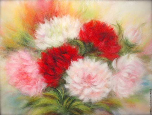 Картины цветов ручной работы. Ярмарка Мастеров - ручная работа. Купить Букет пионов. Handmade. Картина, цветы, картина пионы