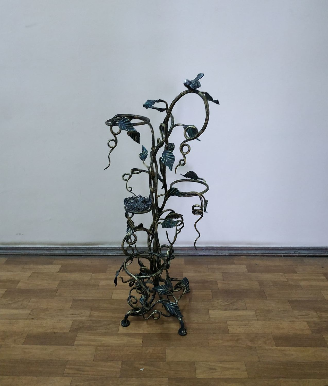 Подставка для цветов Вьюн с птичками на 3 горшка, Цветочные подставки, Москва,  Фото №1