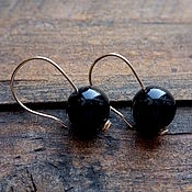 Украшения handmade. Livemaster - original item Earrings made of gold and onyx