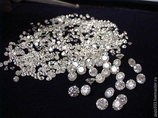 Для украшений ручной работы. Ярмарка Мастеров - ручная работа. Купить бриллиант 1,3+мм  Кр-57. Handmade. Бриллианты