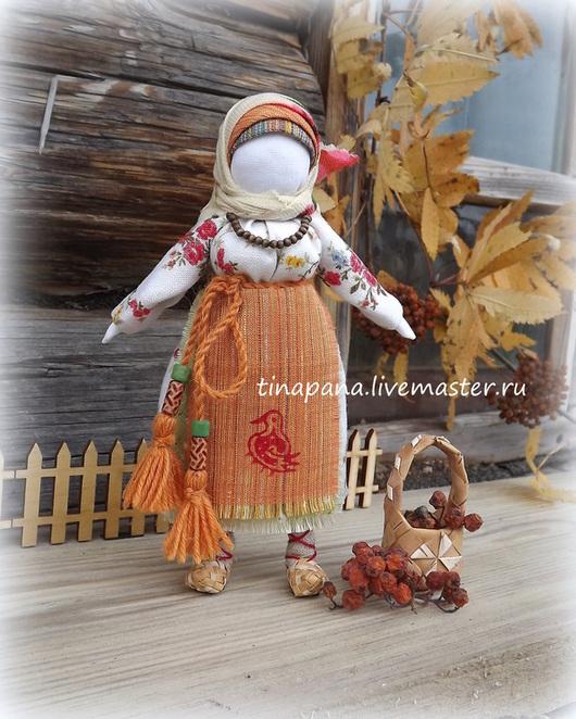 """Народные куклы ручной работы. Ярмарка Мастеров - ручная работа. Купить """"Рябинка"""". Handmade. Кукла-оберег, Рябинка, традиционная кукла"""