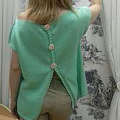 Одежда ручной работы. Ярмарка Мастеров - ручная работа Топ летний Мята. Handmade.
