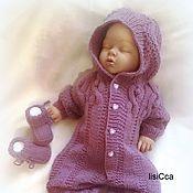 Работы для детей, ручной работы. Ярмарка Мастеров - ручная работа Комплект для малышки Фиолетовые косы. Handmade.