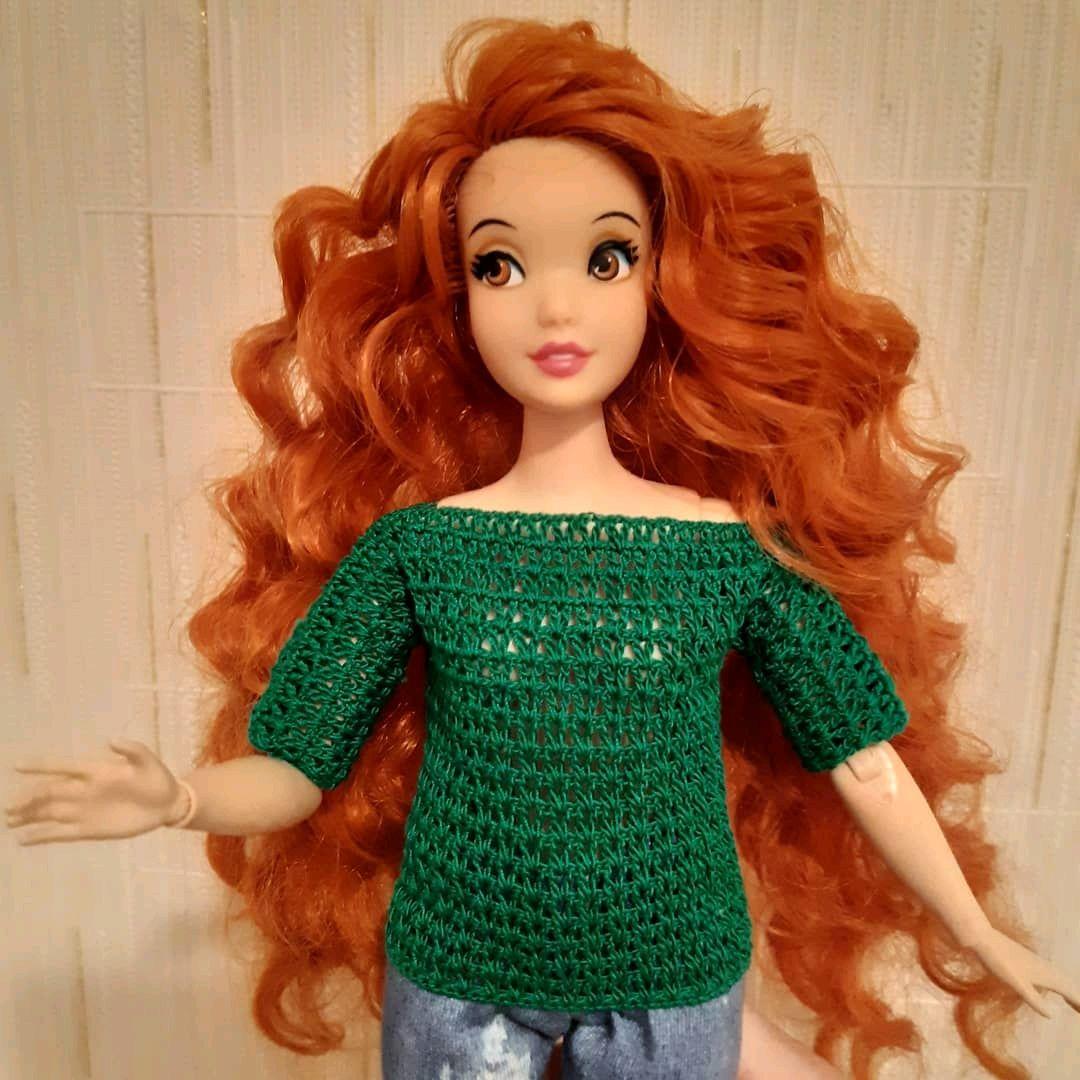 Свитер для Барби крючком, Одежда для кукол, Тольятти,  Фото №1
