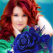 Украшения handmade. Livemaster - original item The colors of the skin.Decoration brooch hairpin AELITA.BLUE ROSES,. Handmade.