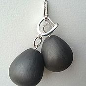 Earrings handmade. Livemaster - original item Earrings made of natural jet