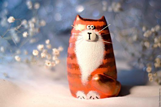 Персональные подарки ручной работы. Ярмарка Мастеров - ручная работа. Купить Подарок на 8 марта - статуэтка кот / кошка рыжий. Handmade.