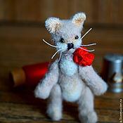 Куклы и игрушки ручной работы. Ярмарка Мастеров - ручная работа Котёнок-тедди Персик 7 см. Handmade.