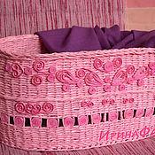 """Для дома и интерьера ручной работы. Ярмарка Мастеров - ручная работа корзинка """"Офелия"""". Handmade."""