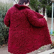 """Одежда ручной работы. Ярмарка Мастеров - ручная работа Пальто """"Спелая вишня"""". Handmade."""