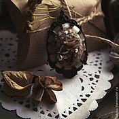 """Украшения ручной работы. Ярмарка Мастеров - ручная работа Брошь """"Цветы и мох"""". Handmade."""