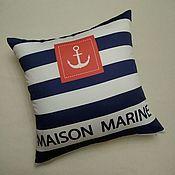 Для дома и интерьера handmade. Livemaster - original item Anchor cushion