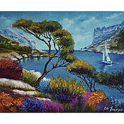handmade. Livemaster - original item Oil painting of the sea