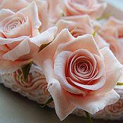"""Свадебный салон ручной работы. Ярмарка Мастеров - ручная работа Набор шпилек """"Розы нежно-розовые"""" 10 шт.. Handmade."""