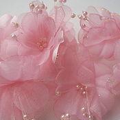 Материалы для творчества ручной работы. Ярмарка Мастеров - ручная работа Букетик свадебный, бутоньерка розовая 140 х 90 мм.. Handmade.