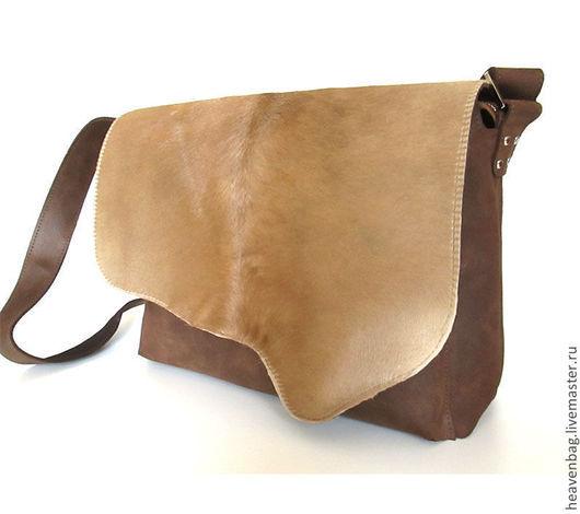 Мужские сумки ручной работы. Ярмарка Мастеров - ручная работа. Купить Сумка Аnimal. Handmade. Коричневый, сумка женская, кожа