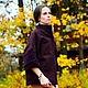 Алина Сапогова: Авторское демисезонное шерстяное пальто `Сливовый бархат` Фотограф: Александр Сапогов.