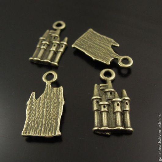 """Для украшений ручной работы. Ярмарка Мастеров - ручная работа. Купить Подвеска кулон """"Замок"""" металлическая античная бронза. Handmade."""