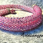 """Украшения ручной работы. Ярмарка Мастеров - ручная работа Браслет """"Розовый"""". Handmade."""