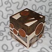 Для дома и интерьера ручной работы. Ярмарка Мастеров - ручная работа Шкатулка Геометрический куб. Handmade.