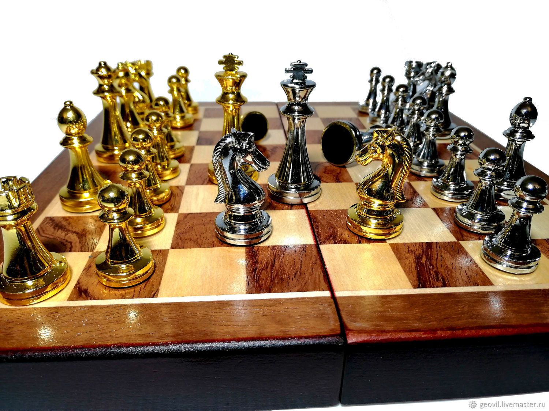 Шахматы Классика, 30x30 см., деревянные,фигуры металл, Шахматы, Санкт-Петербург,  Фото №1