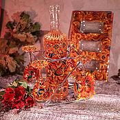 """Посуда ручной работы. Ярмарка Мастеров - ручная работа Набор для крепленых напитков - """"Русский народный"""". Handmade."""