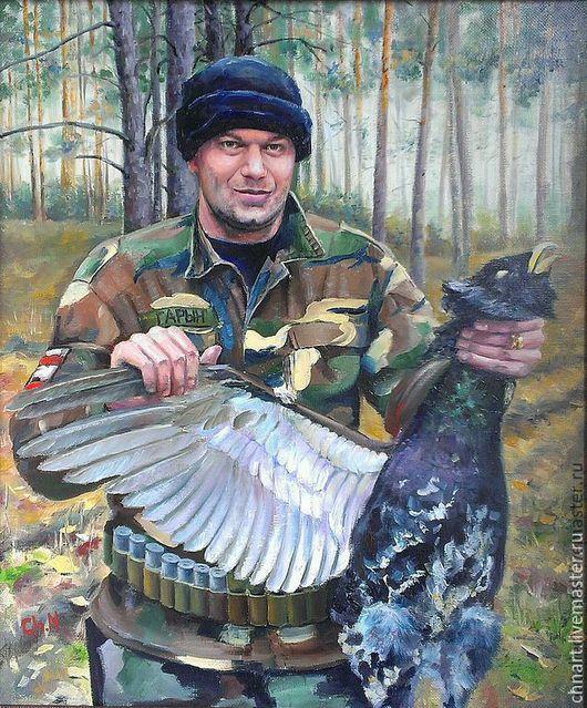"""Люди, ручной работы. Ярмарка Мастеров - ручная работа. Купить портрет """"Охотник"""". Handmade. Охотник, портрет на заказ, портрет в подарок"""