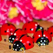Сувениры и подарки handmade. Livemaster - original item Ladybug magnet. Handmade.