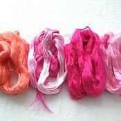 Материалы для творчества ручной работы. Ярмарка Мастеров - ручная работа Вискоза для валяния и прядения Цветовой набор 100 грамм. Handmade.