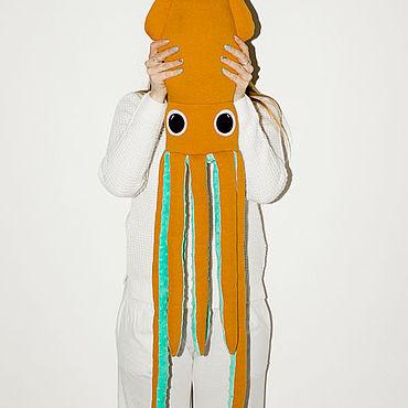 """Куклы и игрушки ручной работы. Ярмарка Мастеров - ручная работа Мягкая игрушка кальмар """"Горчичка"""". Handmade."""