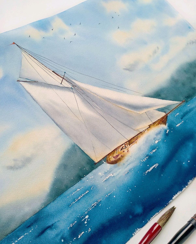 Открытки с морем и яхтами, подручных средств открытки