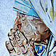"""Люди, ручной работы. Ярмарка Мастеров - ручная работа. Купить Картина """"Мать Тереза"""". Коллаж. Портрет. Handmade. Голубой, ангел"""