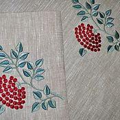 Для дома и интерьера handmade. Livemaster - original item Napkins: set of path and napkins with embroidery