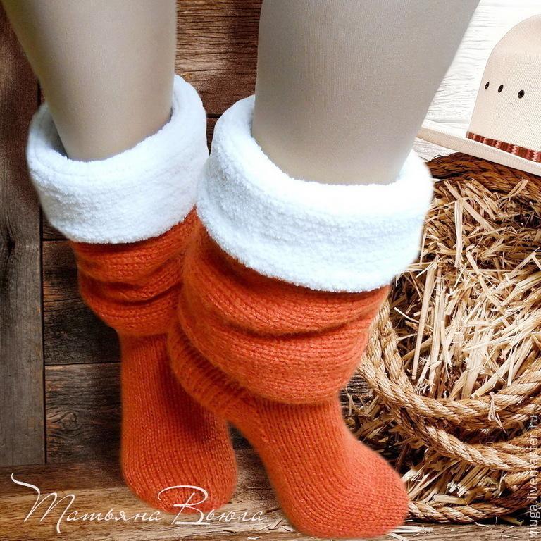 Вязаные носки спицами своими руками