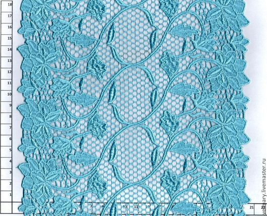 Аппликации, вставки, отделка ручной работы. Ярмарка Мастеров - ручная работа. Купить Кружево макраме GBM-103 голубой. Handmade.