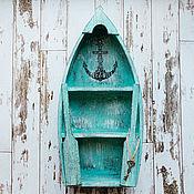 Для дома и интерьера ручной работы. Ярмарка Мастеров - ручная работа Полка-лодка для хранения мелочей «Морское путешествие». Handmade.