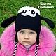 Шапки и шарфы ручной работы. Ярмарка Мастеров - ручная работа. Купить Шапка детская Барашек Шон. Handmade. Прикольная шапка
