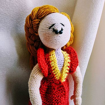 """Куклы и игрушки ручной работы. Ярмарка Мастеров - ручная работа Работа из шерсти. Амигуруми """"Бусинка"""". Handmade."""